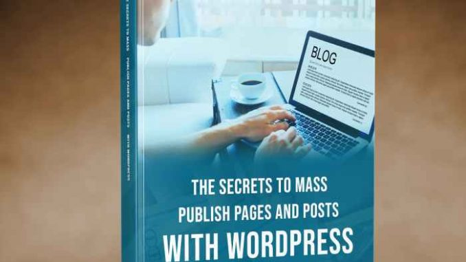 THE SECRETS TO MASS PUBLISH cover